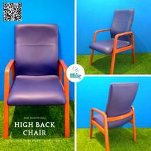 AIM Healthcare High Back Chair (PVC with solid wood)