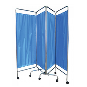 Hopkin Hospital Ward Screen 4 Fold With Blue Curtain - Asian Integrated Medical Sdn Bhd (ielder.asia)