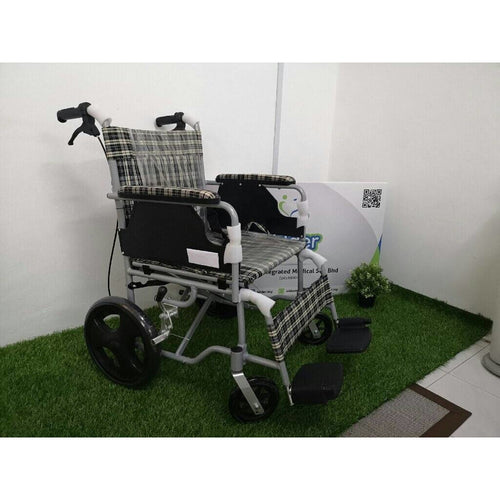 Lilac Aluminium Lightweight Foldable Adjustable Wheelchair (8.7kg)