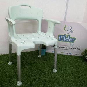 Etac Swift Shower Chair with Side & Back (Mint Green)-corrosion free - Asian Integrated Medical Sdn Bhd (ielder.asia)