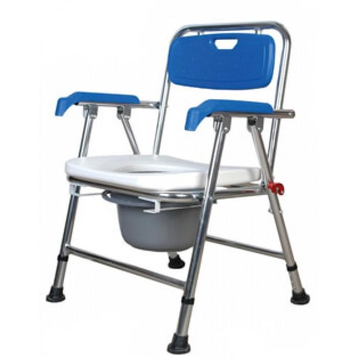 Aluminium Foldable Commode and Shower Chair (Comfortable Lightweight) - Asian Integrated Medical Sdn Bhd (ielder.asia)