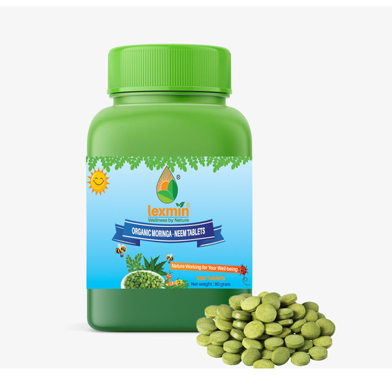 Lexmin Organic Moringa - Neem 200 Tablet - Asian Integrated Medical Sdn Bhd (ielder.asia)