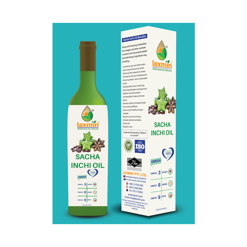 Lexmin Sacha Inchi Oil -  Cold Pressed Oil (250 ml) - Asian Integrated Medical Sdn Bhd (ielder.asia)