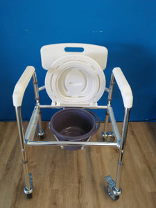 Light Commode Mobile Chair with Adjustable Aluminium Frame