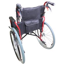 Lightweight Black QR Wheelchair with Spoke RIM (Red)