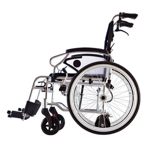 "2in1 Self-propel & Pushchair Blue Frame Lightweight Wheelchair 16.3kg (18"") - Asian Integrated Medical Sdn Bhd (ielder.asia)"