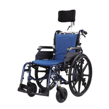 Manual Backrest Recline Wheelchair 18 kg with headrest