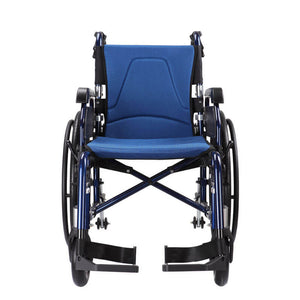 Manual Backrest Recline Wheelchair 18 kg front view