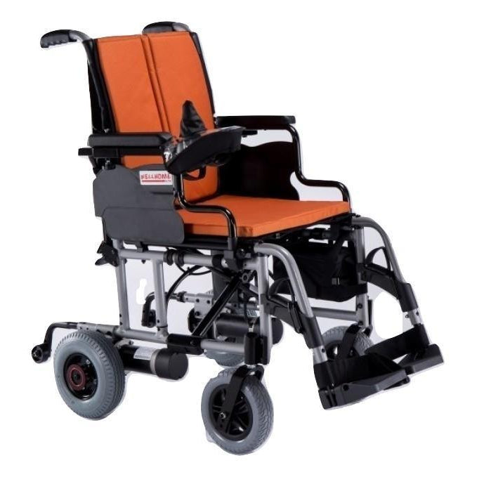 Orange New Breeze Lightweight Powered Wheelchair 29 kg - Asian Integrated Medical Sdn Bhd (ielder.asia)