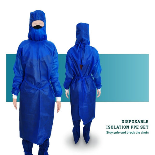 Disposable Non-woven 45gsm Isolation Gown