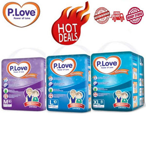 P.Love Adult Diaper [Standard] (M10 L10 XL8 x 12 packs)