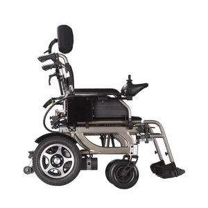 Economy Power Wheelchair Reclinable Backrest side view