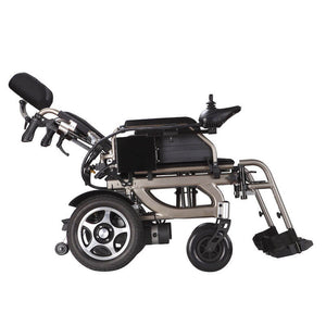 Economy Power Wheelchair Reclinable Backrest reclined view