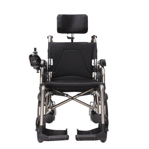 Economy Power Wheelchair Reclinable Backrest front view