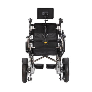 Economy Power Wheelchair Reclinable Backrest back view