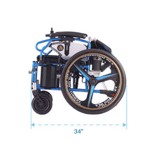 Dual Function Foldable Power Wheelchair Folded view