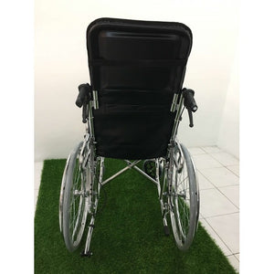 Steel Reclining Wheelchair 24kg back view