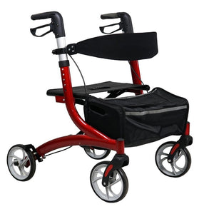 Aluminium Rollator (Red) - Asian Integrated Medical Sdn Bhd (ielder.asia)
