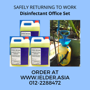 [Pre-order] Disinfectant Spray Office Set (3 drum 5 litre Puman 3900 QAC & 1 unit 5 litre Pump)