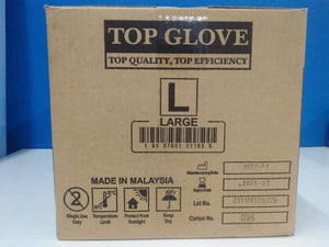 Top Glove Latex Examination Glove Powder Free Natural White 100pcs per box