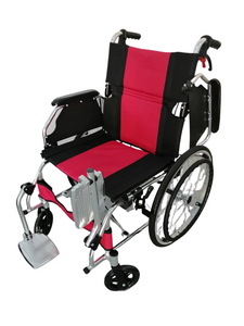 "ALUMINIUM FOLDING FRAME WHEELCHAIR (18"")"