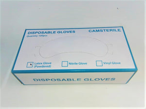 Camsterile Disposable Latex Powdered Glove 100pcs