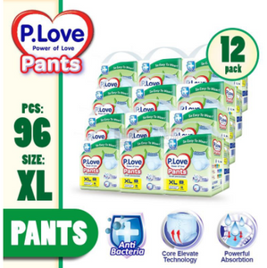 P.Love Adult Pants M10 / L10 / XL8 x 12 Packs