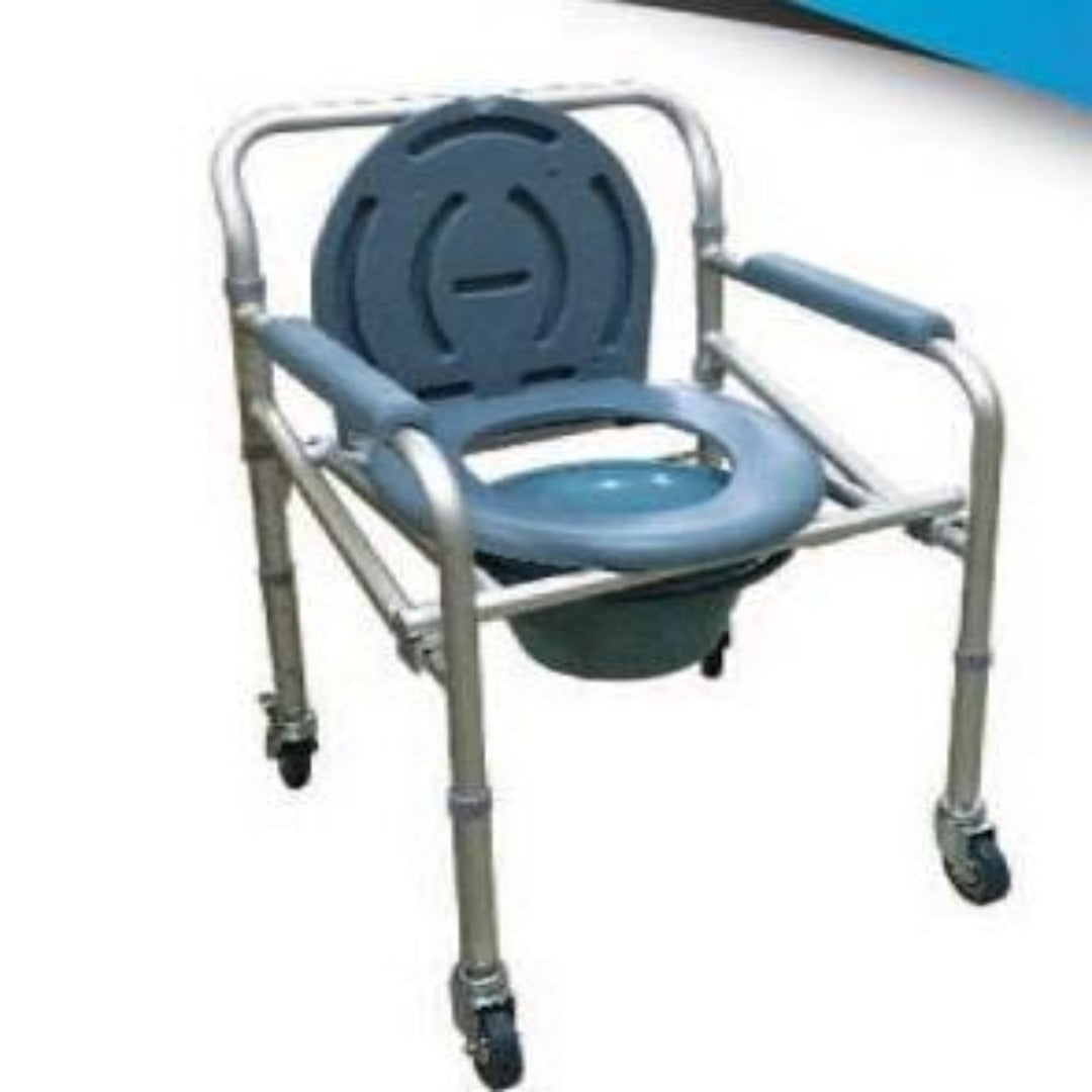 Blue Aluminium Commode Chair - Asian Integrated Medical Sdn Bhd (ielder.asia)