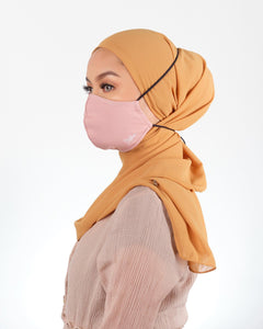 Bae Hanna SkinLab Fabric Face Mask Hijab Friendly Version (Blush Pink)