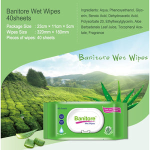 Banitore Wet Premium Wipes (40sheets/Pack)