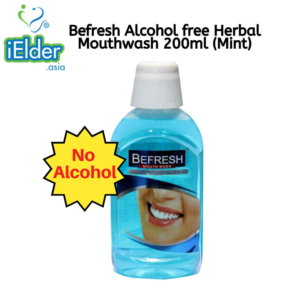 Befresh Alcohol free Herbal Mouthwash 200ml (Mint) - Asian Integrated Medical Sdn Bhd (ielder.asia)
