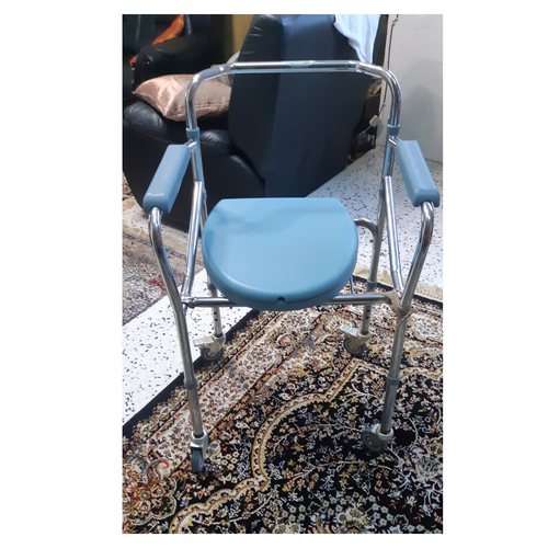 [Second Hand] Blue Aluminium Commode Chair with wheel (SH4)