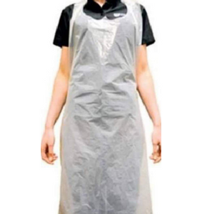 White disposable plastic apron (100 pcs/pkt)