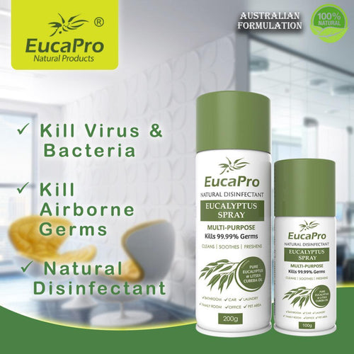 Eucapro Natural Disinfectant Multipurpose Eucalyptus Spray 200ml (Kills 99.99% of Germs) - Asian Integrated Medical Sdn Bhd (ielder.asia)