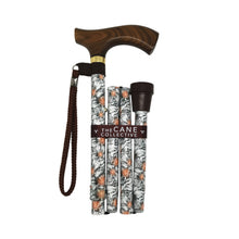 Foldable Adjustable Height Walking Cane Day Hibiscus by The Cane Collective