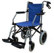 "Lohas Wheelchair Blue Air Compact Lightweight Travel  w/ Bag 8.5kg (16"") - Asian Integrated Medical Sdn Bhd (ielder.asia)"