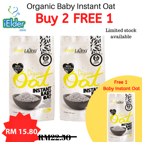 Earth Living Organic Oat 500g (Buy 2 Free 1) [Exp: April 2022]