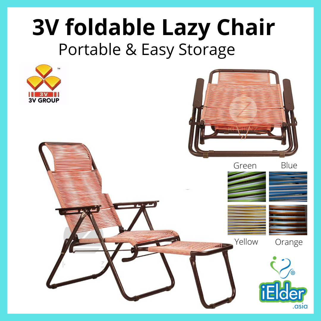 3V Foldable Lazy Chair XXL (32mm) Round String Random Color - Asian Integrated Medical Sdn Bhd (ielder.asia)