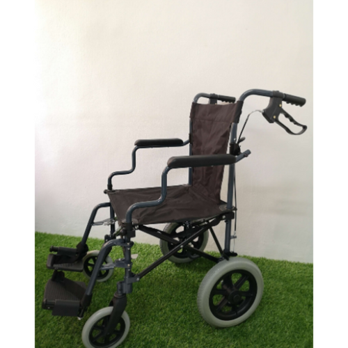 Black Easy Go Foldable Comfortable Wheelchair with Luggage Bag 10kg