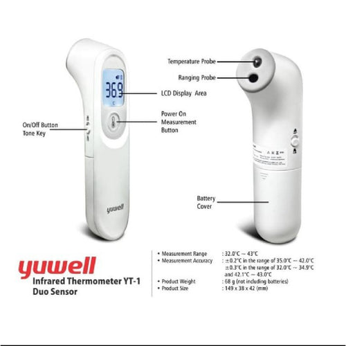[Pre-order] Yuwell Infrared Thermometer YT-1 Duo Sensor [ETA: 1st or 2nd week of April]