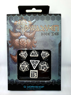 Dwarven dice vintage Black and white