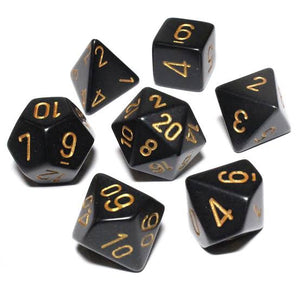 Solid Black with Gold - Sirius Dice
