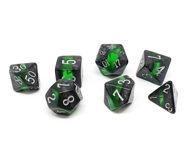 Gemstone polyhedral set - Enchanted Emerald