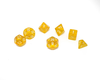 Translucent Mini Dice - Yellow