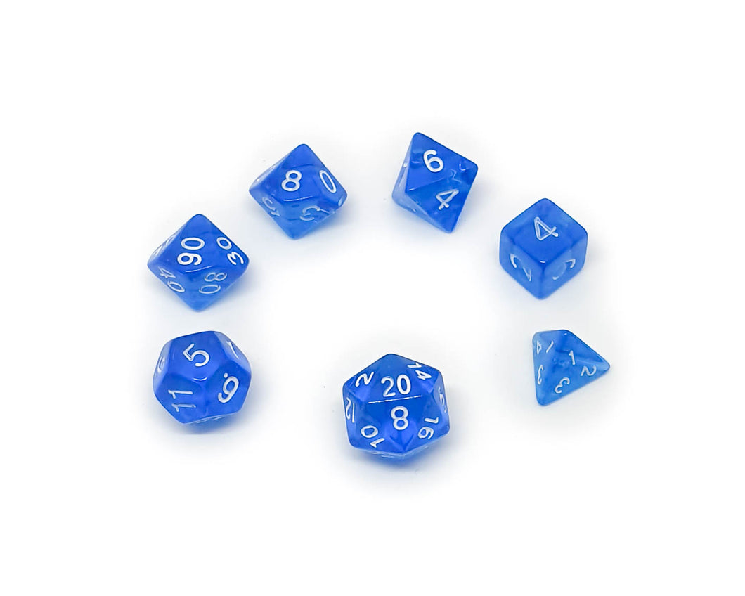 Translucent Mini Dice - Blue