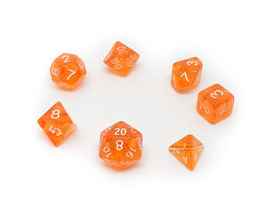 Translucent Mini Dice - Orange