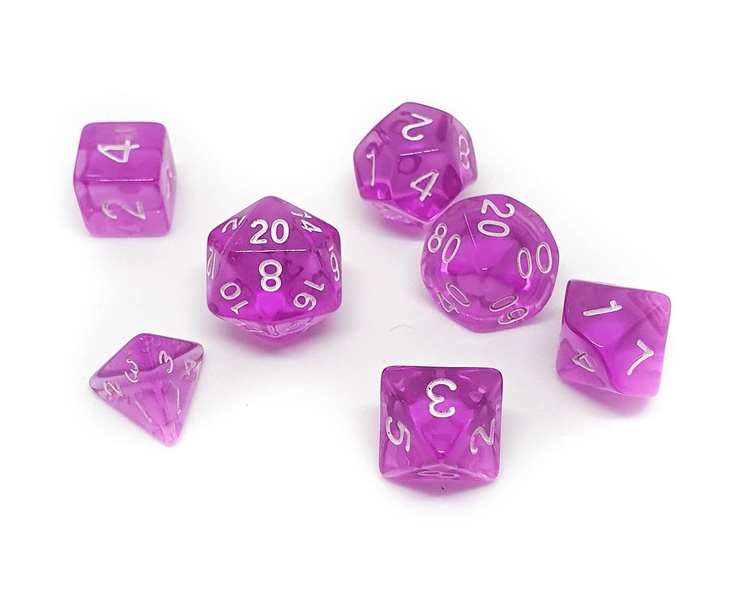 Translucent Mini Dice - Purple