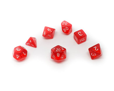 Translucent Mini Dice - Red