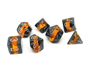 Gemstone polyhedral set - Ancient Amber