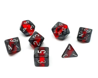Gemstone polyhedral set - Dwarven Ruby